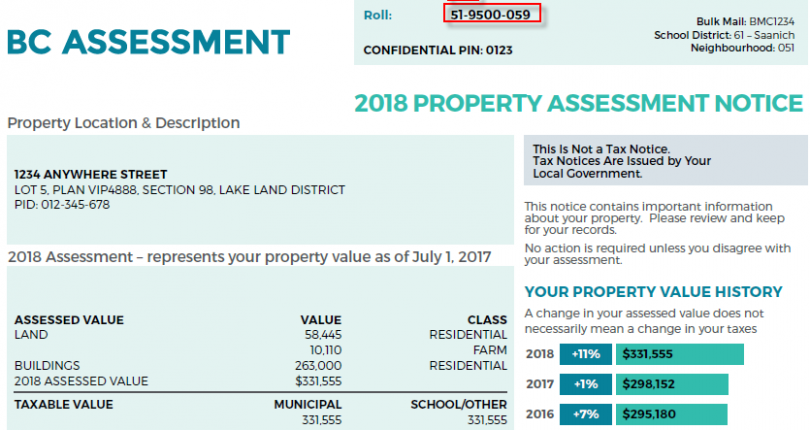 Is the BC Assessment my Properties True Value?