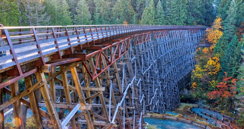 Vancouver Islands renowned world's tallest wooden trestle